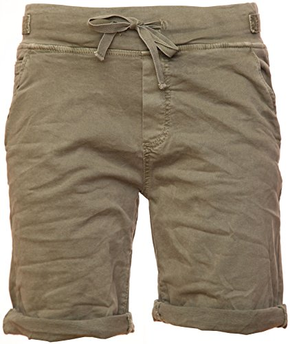 Basic.de Cotton-Stretch Bermuda-Shorts Khaki L