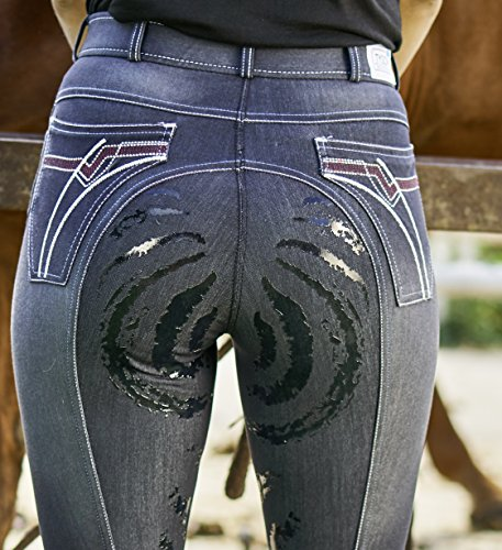 Tysons Breeches Aktion Jeans Vollgrip Reithose 36 38 40 42 44 46 48 Stoned Wash Schlupf Reiterhose (36)