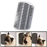 Gaddrt Massagebürste Reizendes Haustier-Katzen-Selbst Groomer Wand-Eckmassage-Kamm-Katze-Kätzchen-Pflegenbürste 13×8.5×4.7cm
