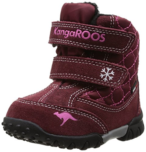 Kangaroos Inscore 3000, Bottes de neige bébé fille - Rouge (Burgundy/Magenta 668), 27 EU