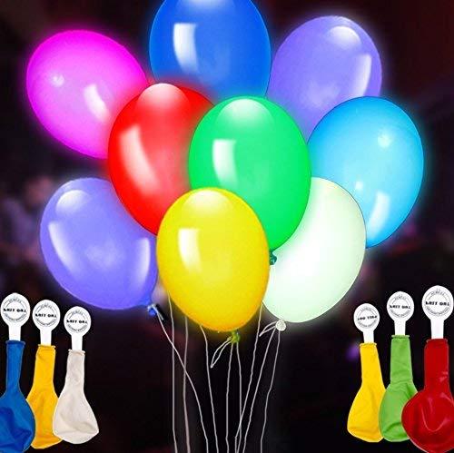 Yoonshop Globos Multicolores Luminosos x 25 unidades para fiesta,matrimonios,cumpleanos
