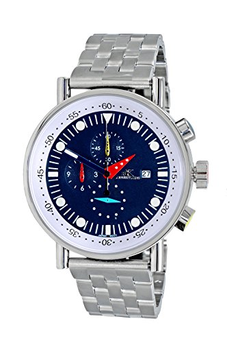 Adee Kaye Men's Quartz Stainless Steel Sport Watch, Color:Silver-Toned (Model: AK2268-20_BU)
