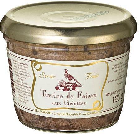 Fasanen Pastete mit Sauerkirschen, Beauharnais, 180g, Terrine de faisan aux Griottes