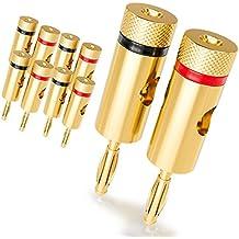 [10 piezas] deleyCON Kit Conectores Banana Sets / bafles / amplificadores / receptores AV / transformadores de salida / hi-fi / equipos stereo