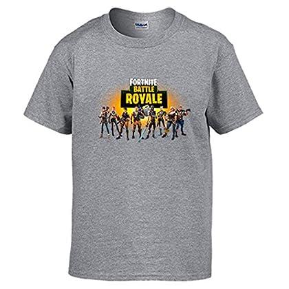Camiseta Fortnite Battle Royale - Gris, 12-14 Años
