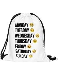 de05f36124 Turn sacchetto sacchetto juta Emoji Smileys Week Emoti CONS Sacchetto Sacco  sacchetto Sport borsa sportiva