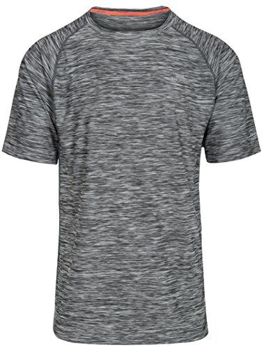Trespass Herren Schnelltrocknendes T-shirt Gaffney, Carbon Marl, S, MATOTSN10001_CMAS
