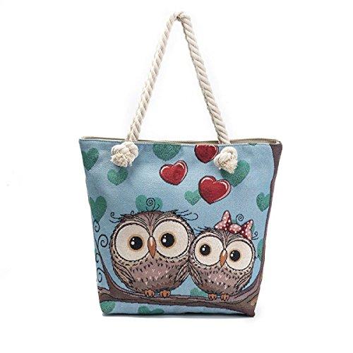 FZHLY Shoulder Bag Lady Bianca Robe Owl Jacquard,547c 547b
