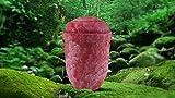 """Biologisch abbaubar Verbrennung Asche Urne–Erwachsene Größe–Slate Design """"Rustic Red"""""""