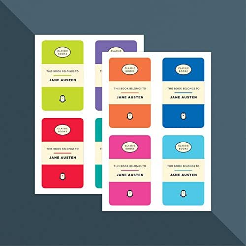 Personalised Classic Book Owner Stickers x 8 (this book belongs to) // Teacher Stickers