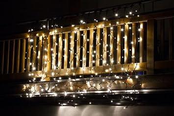 led lichtervorhang koppelbar weihnachten warmweiss/weiss innen ... - Küche 3 Meter