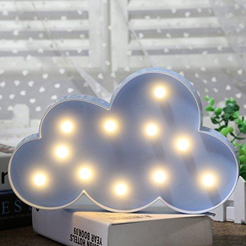 Süße LED Nachtlichter Stimmungslicht Schreibtischlampen Babyzimmer Kinderzimmer Dekorationen Geschenke (Wolke, Blau) (Blaue Led Rückseite Licht-lampen)