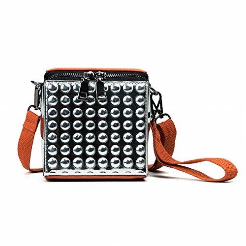 Mini-Art und Weisebeutel-Schlagfarbhandtaschen-Schulterbeutel-Diagonalpaket Orange