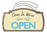 #1: Two-Sided Open/Closed Boutique Sign, Hanging Hardware Included, 12 x 7 inches (098380)
