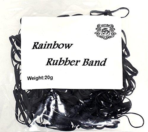Sticker 20 g élastiques Machine en caoutchouc noir pour machines env. 240 pièces Rainbow Bracelet en Caoutchouc bande de caoutchouc