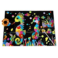 Scratch Paper for Kids, 10PCS Sheets Rainbow Scratch Paper Arts And Crafts for Kids Black Magic Scratch Art Notes Paper Boards DIY Painting Graffiti Scraping Paper