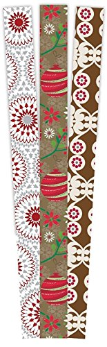 The Gift Wrap Company 3-Count Premium Holiday Wrapping Paper Roll Sets, Yuletide Cheer