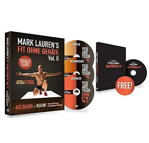 Mark Lauren DVD | Fit ohne Geräte II: Trainieren mit dem eigenen Körpergewicht 3-DVD-Set
