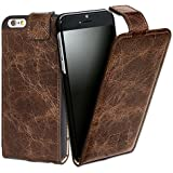 Bouletta Leather Phone Case for Apple iPhone 6 / iPhone 6S [Flip Case Vessel Brown]