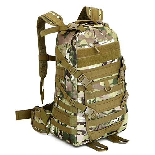 LF&F Hochwertige Camping-MilitäRischen Taktischen Rucksack Outdoor-Angriff Rucksack Bergsteigen Tasche Wandern Radfahren Angeln GepäCk Tasche 40L KapazitäT Schultertasche Handtasche D