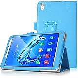 Acer Iconia One 8 (B1-860) Funda Case, IVSO Book-Style Stand Cover Funda Protectora de Cuero PU para Acer Iconia One 8 (B1-860) Tablet (Azul)