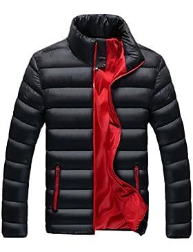 YuanDian Hombre Inverno Casual Collar Del Soporte Abrigo De Plumon Chaqueta Espesar Cálido Impermeable A Prueba...