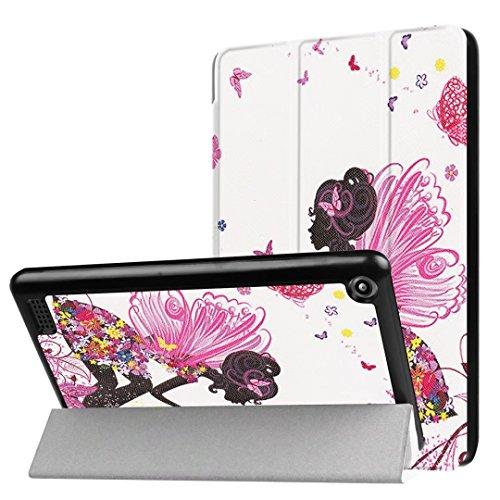 Kindle Fall, happytop 3Arm Backcover für 2017New Fire 7, TPU 17,8cm Painted Displayschutzfolie S mädchen (Mädchen Kindle Fire Fällen)