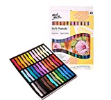 MONT MARTE Pastelli Morbidi - 36 pizzi - Colori a gesso, Pastel Gessetto - Ideale per la Pittura colorata ed espressiva - Perfetto per Principianti, Professionisti e Artisti