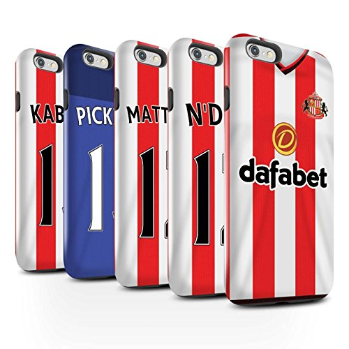 Offiziell Sunderland AFC Hülle / Glanz Harten Stoßfest Case für Apple iPhone 6 / Pack 24pcs Muster / SAFC Trikot Home 15/16 Kollektion Pack 24pcs