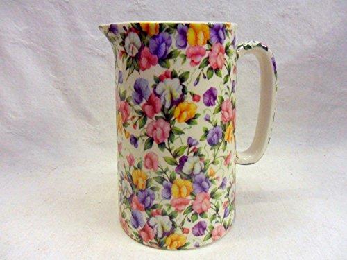 Heron Cross Pottery Ditsy Sweet PEA Design 1Pint Krug hergestellt Sweet Pea Chintz