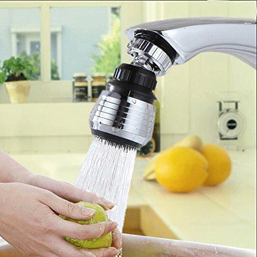 Sayou® Tête Pivotante 360 Filtre / pivotant robinet / embout de robinet de cuisine, 2 paramètres de débit d'eau
