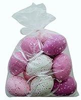 Le uova di Pasqua dipinte sono della marca khevga - uova di Pasqua dipinte a mano - Uova di Pasqua fatto di plastica - facile da appendere grazie al nastro di raso - set a scelta da 12 o 24 uova di Pasqua - può essere combinato con altre deco...