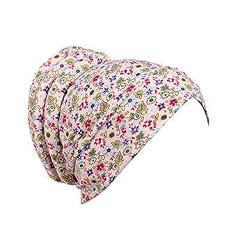 RYTEJFES Bonnet écharpe en écharpe avec Foulard en Turban pour Femmes Chimiothérapie Bonnet décharpe Casquettes, bonnets et chapeaux Vêtements