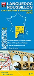 Languedoc Roussillon, Carte Régionale Routière Touristique N°115. Plan du centre-ville de Montpellier - Echelle : 1/200 000, avec index - Edition 2012