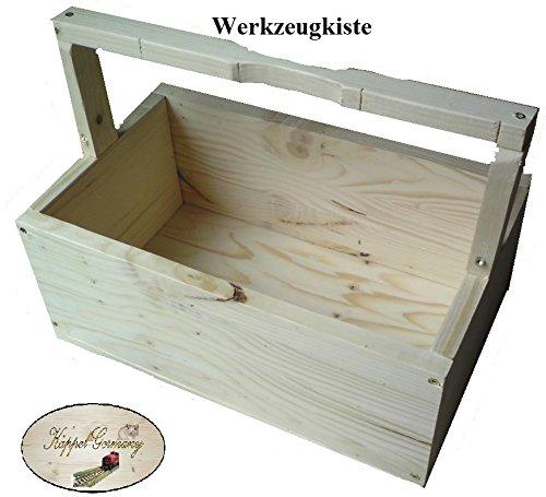 Massivholz Werkzeugkiste Werkzeugbox Box 40 x 17,5 x 25cm Made in Germany von KÄPPEL-GERMANY