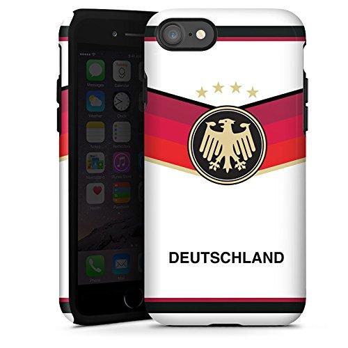 Apple iPhone X Silikon Hülle Case Schutzhülle fussball fußball deutschland Tough Case glänzend