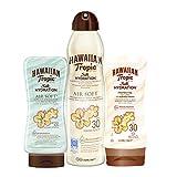 Hawaiian Tropic - Lotion crème solaire Silk Hydration SPF 30, 200ml. + Brume Spray Silk Hydration Air Soft SPF 30, 180ml. + Après Soleil Silk Hydration Air Soft 200ml.