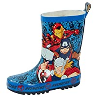 Marvel Avengers 2D Rubber Wellington Boots Kids Super Hero Snow Rain Wellies