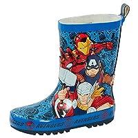 Marvel Avengers 2D Rubber Wellington Boots Kids Super Hero Snow Rain Wellies