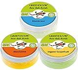 Greendoor Körperpeeling SET Sea Salt Scrub FRESH, 3 frische Salz Peelings SPARPREIS, Duschpeeling ohne Mikroplastik 3 x 280g, vegane Naturkosmetik, natürliches Haut-Peeling, Body Scrub aus der Natur