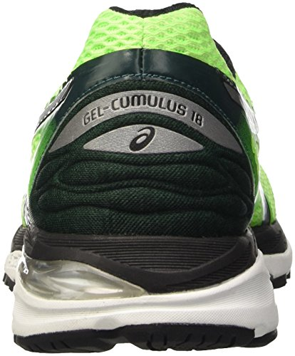 Asics Gel Cumulus 18, Chaussures de Running Entrainement homme Vert (Green/White)