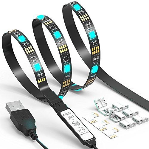 Tira de luz LED de TV JACKYLED 6.6Ft 60Leds LED TV Backlight...