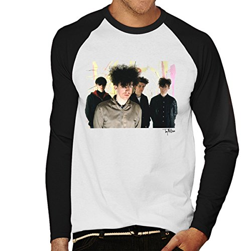 Tony Mottram Official Photography - Jesus And Mary Chain Band Shot William Reid Close Up Men's Baseball Long Sleeved T-Shirt