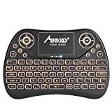 Mini Teclado, MAD GIGA Teclado Inalámbrico Smart TV con Ratón Táctil, Touchpad Teclado Inalámbrico con USB Receptor para Desktop, Laptop, Car TV, HTPC, Screen TV, Smart TV, Hard disk player, Network player, X-BOX