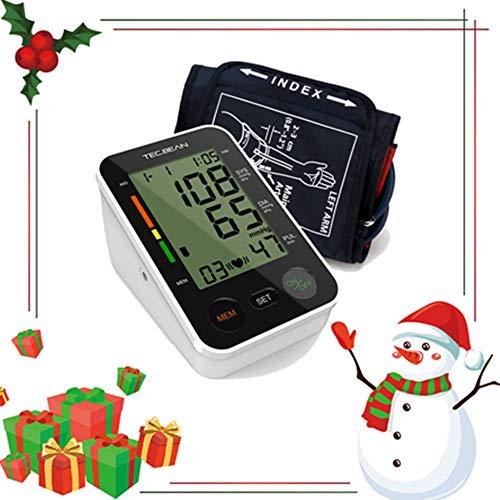 TEC.BEAN Digitales Oberarm Blutdruckmessgerät mit Herzfrequenz-Erkennung und Speicher für 2 Nutzer, Standard Manschette, Automatisch Blutdruckmessung FDA-zugelassen
