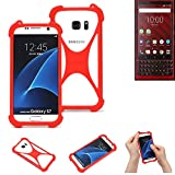 K-S-Trade® Mobile Phone Bumper For Blackberry KEY2 Red