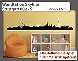 Wandtattoo Skyline Stuttgart 002 - Größe: S - 80cm x 17cm - 23 mögliche Farben