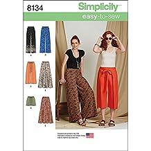 Simplicity 8134 Taglie easy-to-sew Pantaloni e pantaloncini cartamodello c0ef3badfd2