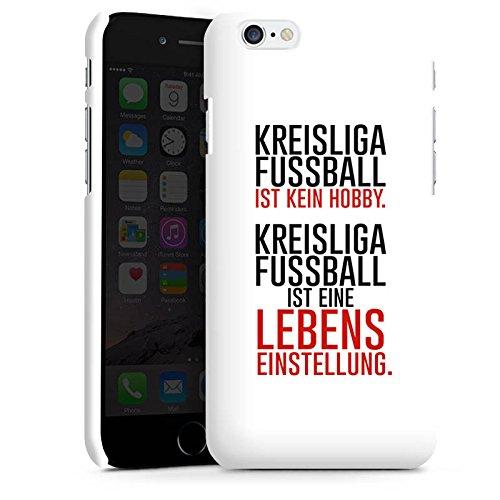 Apple iPhone X Silikon Hülle Case Schutzhülle Kreisliga Lebenseinstellung Fußball Premium Case matt
