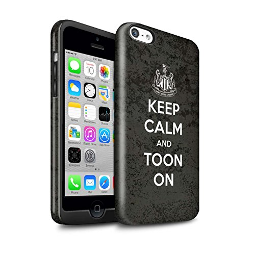 Offiziell Newcastle United FC Hülle / Glanz Harten Stoßfest Case für Apple iPhone 5C / Pack 7pcs Muster / NUFC Keep Calm Kollektion Toon On